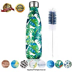 Excellent, Durable Quality: MagicBeam Vacuum water bottle is made from high quality premium double walled food grade 18/8 stainless steel. 100% BPA Free for heath-safety. Durable and sturdy, no sweating, won't leak or rust. Also comes with a premium ...