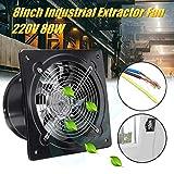 JJZZ 8 pulgadas 220V 80W ventilador de panel de acero inoxidable ventilador de ventilación industrial montaje de pared de metal ventilador de extracción de ventana de cocina