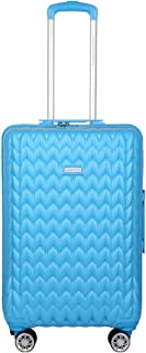 United Colors of Benetton Knit Structure ABS 66 cms Blue Hardsided Check-in Luggage (0IP6MP24HL08I)