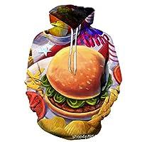 3Dキッズフーディーボーイズガールズプリントスウェットシャツおかしい長袖プルオーバーフーディーカジュアルラウンドネックポケット付きフード付き,2,L