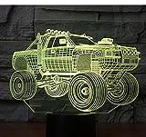3D LED Nachtlicht Panzer Panzerwagen mit 7 Farben Licht für Home Decoration Lampe Amazing Visualization Off Road