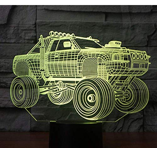 3D LED Nachtlicht Panzer Panzerwagen mit 7 Farben Licht für Home Decoration Lampe Amazing Visualization Off Road