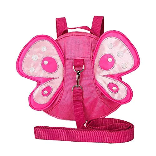 Cupcinu Cute Butterfly Anti-lost Backpack Wings Backpack Breathable Wear Resistant Mini School Shoulder Bag Best Gift for Kindergarten with Adjustable Straps size 20x7x20cm (Rose)