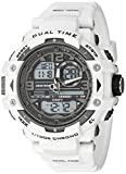 Armitron Sport Men's 20/5062WHT Analog-Digital Chronograph White Resin Strap Watch