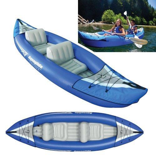 AQUAGLIDE Canotto gonfiabile Kayak Yakima Canoa, l323cm X 79cm L B ARIA Boot 2persone by AQUAGLIDE
