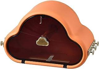 #N/A 粘着トイレットペーパーロールホルダー収納フックぶら下げハンガー引き出し浴室ティッシュボックスオーガナイザーシャワーティッシュホルダー用ナプキン紙 - オレンジ