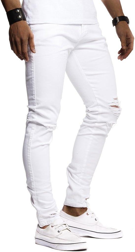 Leif Nelson Jeans da Uomo Pantaloni Jean LN-9145