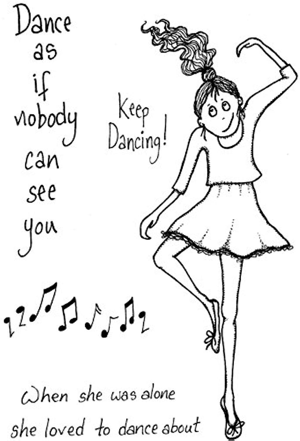 Lindsay Mason Designs A6 Keep Dancing Doo-Lally-Pip Clear Stamp