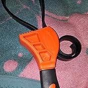 Walmeck Multifunktionale Gurtschlüssel Gummi Gürtel Schraubenschlüssel Einstellbare Schraubenschlüssel Flaschenöffner Ölfilterschlüssel Auto Repair Tool Küche Haushalt
