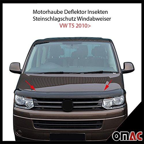 Motorhaube Deflektor Insekten und Steinschlagschutz Windabweiser für T5 2010-2015