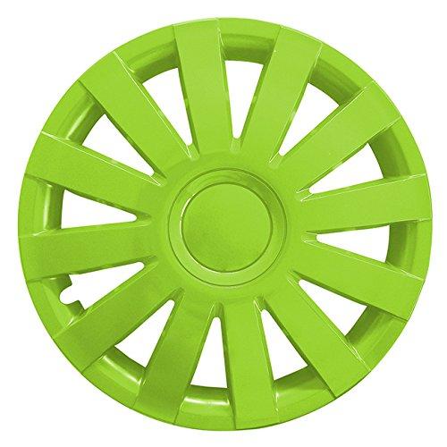 Autoteppich Stylers (Größe wählbar) 14 Zoll Radkappen/Radzierblenden AGAT Grün passend für Fast alle Fahrzeugtypen – universal