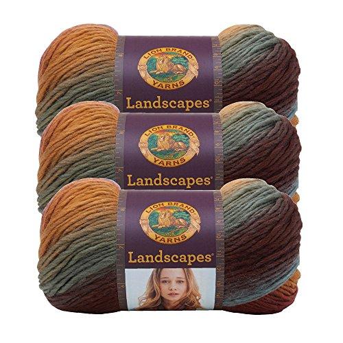 (3 Pack) Lion Brand Yarn 545-204 Landscapes Yarn, Desert Spring