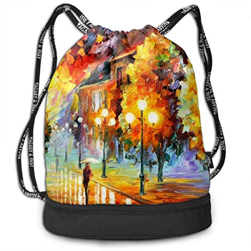 Petrichor Yi Gym Sack Night Street Light Print Drawstring Bags - Sac à Dos à Poche Simple Bundle