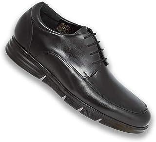Masaltos Zapatos de Hombre con Alzas Que Aumentan Altura hasta 7 cm. Fabricados EN Piel. Modelo Modena B.