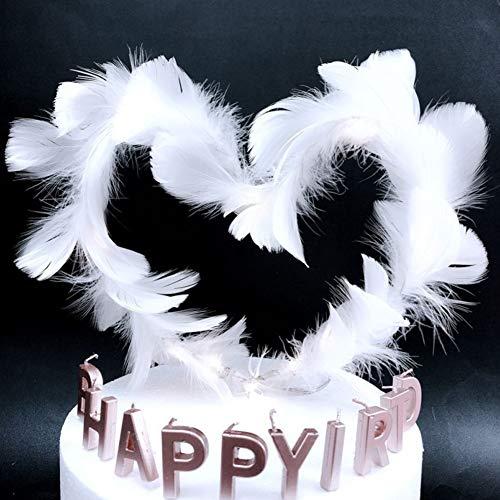 LanLan Taartdecoratie, veren, voor bruiloft, verjaardagsfeest