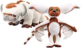 LevinArt 2 Pcs Avatar Last Airbender Appa & Momo Plush Toy Soft Stuffed Animals Cattle and Bat Doll Children Toys