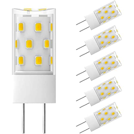 3.5 Watts 5-Pack 35W Equal Ceramic HERO-LED G6-U39S-120V-WW Dimmable T4 GY6.35 Base Bi Pin LED Halogen Replacement Bulb 120V High Voltage Warm White 3000K UL Approved