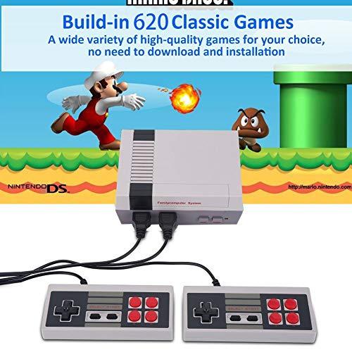 Console di gioco retrò Mini console classica TV Lettore di giochi Console di gioco per famiglie,costruito in 620 giochi,porta ricordi felici dell'infanzia,cavo di uscita AV