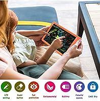 KACC LCDの執筆タブレットの落書きボードは子供、10インチのカラフルな描画タブレットの執筆パッド、女の子の拳ギフトおもちゃフォールンダー老人少女の男の子 ( Color : オレンジ )