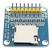 エレクトロニクス部品 3.3V / 5VマイクロSD / TFデュアルカードリーダーモジュールSPI/SDIOデュアルモード収納ボードAVR PIC 1PC