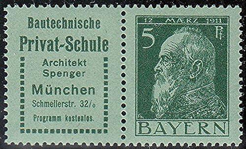 Goldhahn Bayern W 1.7 postfrisch  Briefmarken für Sammler
