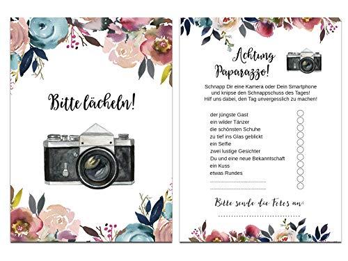 """Hochzeitsspiel   Fotoralley """"Boho Design"""" 50 Stück - 2"""