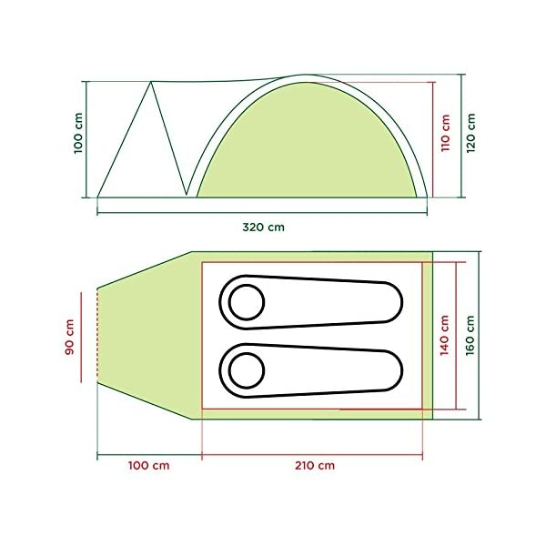 Coleman Tent Darwin 4+, Compact 4 Man Dome Tent, also Ideal for Camping in the Garden, Lightweight 4 Person Camping… 1