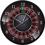 GGZZLL Reloj de pared de brújula de 12 pulgadas, reloj de pared redondo hecho a mano, reloj de pared retro, reloj de pared para marido regalo de año nuevo