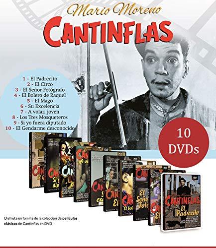 Colección 10 DVDs Cantinflas. A Volar, El bolero de Raquel, El Circo, El Gendarme, El mago, Padrecito, Señor fotógrafo, Tres Mosqueteros, Si yo fuera Diputado, Excelencia