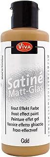 Viva Decor Satiné Matt-Glas (Or, 82ml) Peinture pour verre - Effet givré coloré - Peinture pour porcelaine - couleur satin...