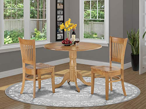 3 Pc Kitchen nook Dining set-small Table and 2 dinette Chairs Chairs