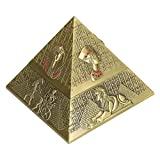 Creative, Metal Innovative Decor Decor Gifts Fuman Conjunto Egipcio-Faraoh-Pyramid Forma Adornos (Lata Antigua) YXF99 (Color : Bronzed)