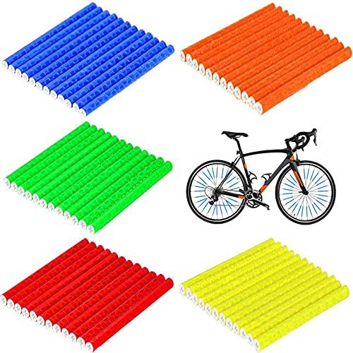 Bicicleta Spoke Reflectors 60PCS Reflectores para Radios de Bicicleta Reflector Bicicleta Reflector de Rueda Alta Visibilidad...