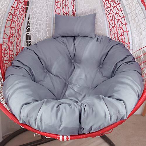 Opknoping mandje Kussen, Bird's Nest Rocking Chair Kussen, Swing Single hangstoel Kussen, Kussen, uitneembare en wasbare rond kussen, rotan Cradle Kussen (Color : C, Size : Diameter 105CM)
