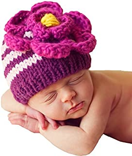 Huggalugs Baby and Toddler Girls Aster Ziggy Flower Beanie Hat Small
