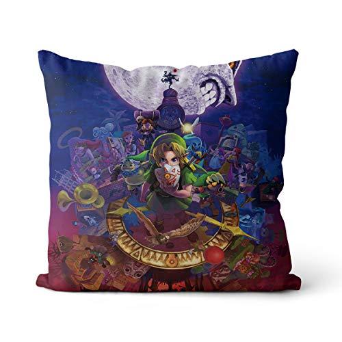Cojín decorativo Zelda una funda de almohada de algodón holandés, de terciopelo liso, decoración para el hogar, sofá, coche, dormitorio, 45 x 45 cm