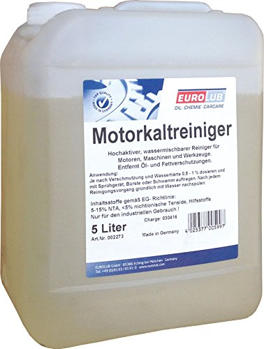 EUROLUB GmbH EUROLUB 002273 Motorkaltreiniger, 5 Liter