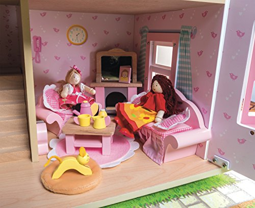 Le Toy Van - Wooden Daisylane Sitting Room Dolls House Accessories Play Set For Dolls Houses | Dolls House Furniture Sets - Suitable For Ages 3+