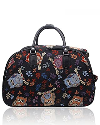 LeahWard Women's Holdall Luggage Bag Travel Weekend Hand Luggage Bag Canvas Weekend Gym Bags CWA388