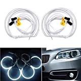 NA luci a LED CCFL angel eyes per fari anteriori, 4 pezzi, da 131 mm 6000 K, anelli blu e bianchi per E36 3 E38 7 E39 5 E46