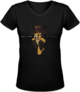 Bunny Angle Fall Out Boy Folie A Deux Ultimate Ladies V Neck T Shirts