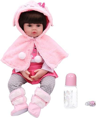 estar en gran demanda Vivitoch muñec  lista de 18 pulgadas, de silicona silicona silicona suave, de viNiño, realista, hecha a maño, para Niños, cumpleaños, Navidad, regaños  garantizado
