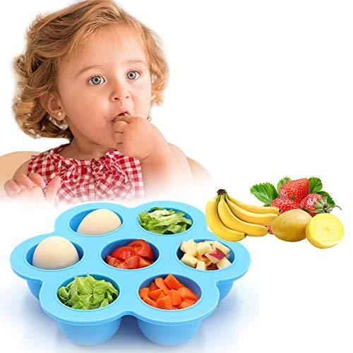 Premium Silikon Babynahrung Aufbewahrung Behälter, Groß 12 x 75ml Portionsgröße mit Deckel| Ideal zum Einfrieren von Babybrei - 100% BPA-Frei & FDA-Zugelassen| Gefrierschrank & Spülmaschinenfest