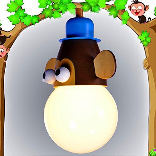 JJZHG Wandlamp, waterdicht, voor de kinderkamer, slaapkamer, cartoon plafondlamp, kroonluchter, led-plafondlamp, kroonluchter, slaapkamer, single hoofd, hoogte 18 cm, diameter 15 cm
