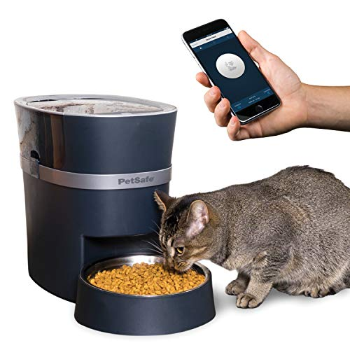PetSafe Smart Feed Automatic Pet Feeder for Cat and Dogs, Wi-Fi Enabled for iPhone and Android devices (Compatible with Alexa), Portion Control and Programmable Timer for up to 12 Meals per Day