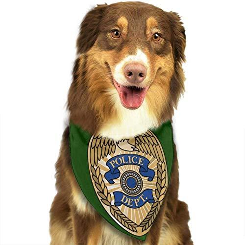 Chicago Police Department Pet Dog Puppy Cat Triangle Bibs Scarf Bandana Collar Neckerchief