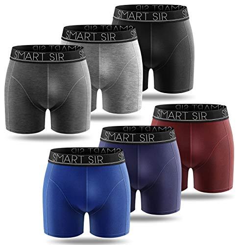Smart Sir Boxershorts Herren 6er Pack Unterhosen Männer Sport Trunks Baumwolle Unterwäsche Men Sportliche Retroshorts