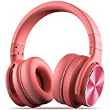 Cowin E7Pro - Auriculares activos con supresión de ruido, Bluetooth, estéreo, inalámbricos, con micrófono, 30horas de autonomía para iPhone, iPad, PC, portátiles y smartphones rosa