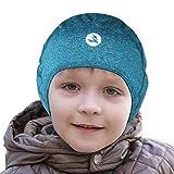 EMPIRELION kids Helmet Liner Teens Thin Thermal skull caps Cover Ears Beanie child Running Hats for Boy & Girl (Green Melange, 4-6-8 Kids)