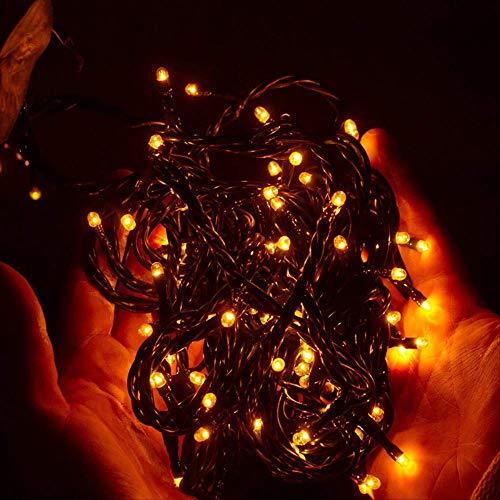 CFLFDC Cadena de luz Lámpara De Color Led De Cadena De Luz Solar Impermeable Al Aire Libre Ocho funciones Lámpara de 12 m 100 (solar) (Blanco)